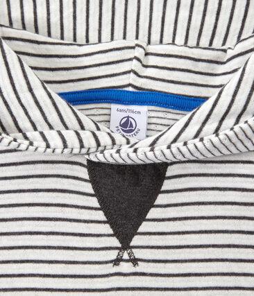 Jungen-Langarmshirt mit Kapuze