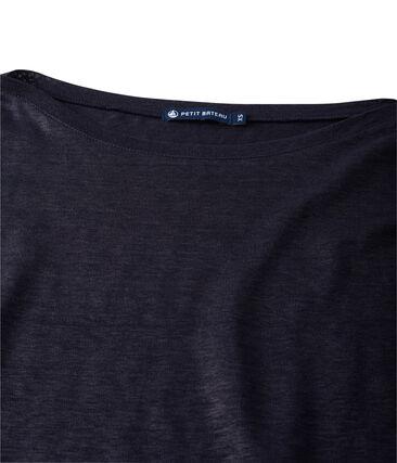 Damen-Langarmshirt aus beschichtetem Leinen