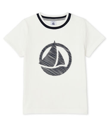 Kurzärmliges T-Shirt für Jungen weiss Marshmallow