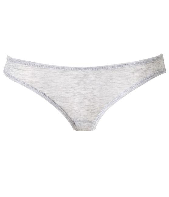 Damen-Slip aus leichter Baumwolle grau Poussiere Chine