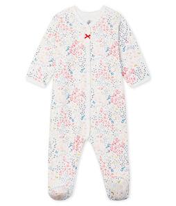 Baby Strampler aus Doppeljersey für Mädchen weiss Marshmallow / weiss Multico