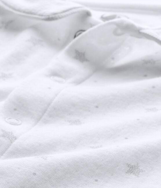 Unisex-Baby-Strampler und Mütze für Neugeborene weiss Ecume / braun Shitake