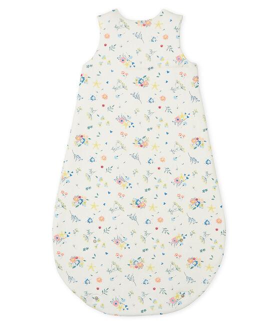 Babyschlafsack aus Rippstrick für Mädchen weiss Marshmallow / weiss Multico