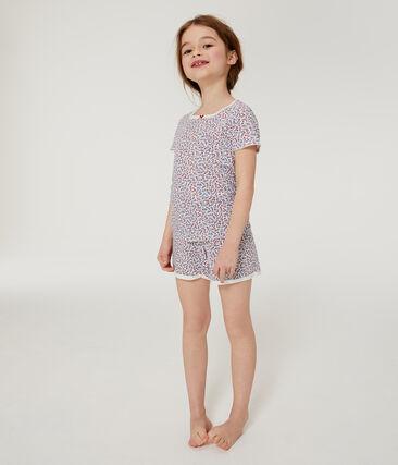 Rippstrick-Kurzpyjama für Mädchen