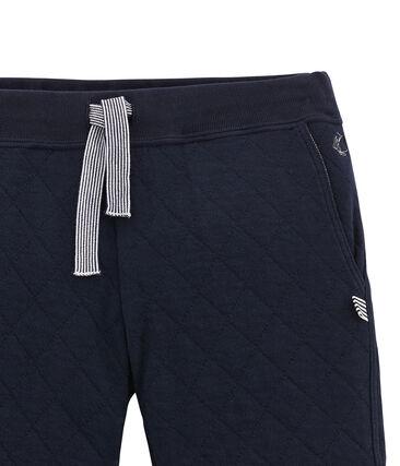 Gesteppte Jungen Hose aus gedoppeltem Jersey blau Smoking