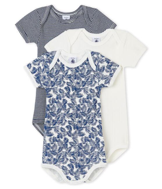 3er-Set kurzärmelige Baby-Bodys blau für Jungen lot .