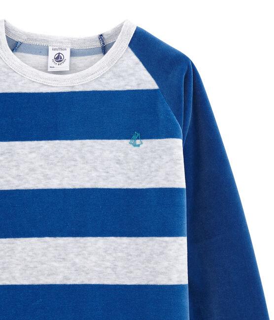 Jungen Schlafanzug blau Limoges / grau Poussiere