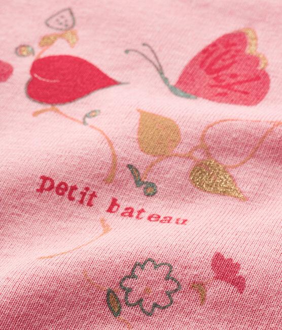 Kurzärmeliger Baby-Body für Mädchen rosa Gretel