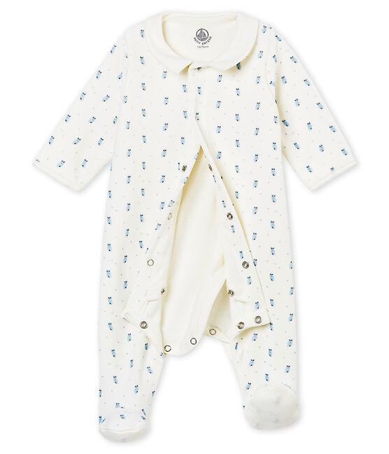 Baby Jungen Bodyjama aus Baumwoll Nicki mit Print weiss Marshmallow / weiss Multico