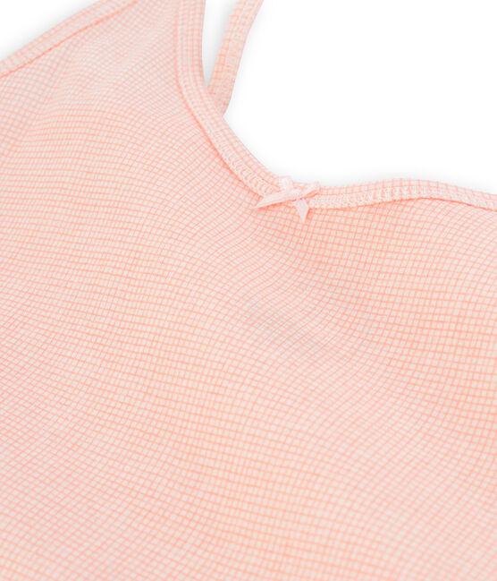 Damen-trägershirt weiss Marshmallow / rosa Rosako