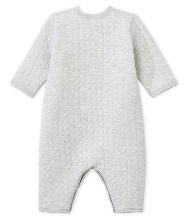 Unisex Baby Strampler ohne Fuß aus gedoppeltem Jersey grau Beluga