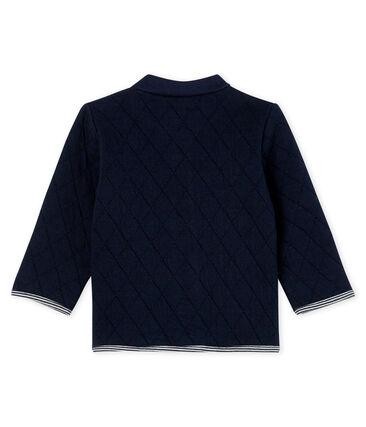 Baby-Cardigan aus gestepptem Doppeljersey für Jungen blau Smoking