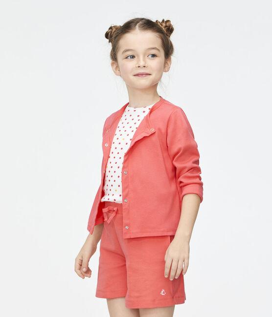Kinder-Cardigan für Mädchen rosa Groseiller