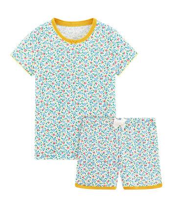 Rippstrick-Kurzpyjama für kleine Mädchen