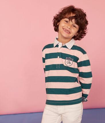 Kinder-Rugby-Poloshirt Jungen
