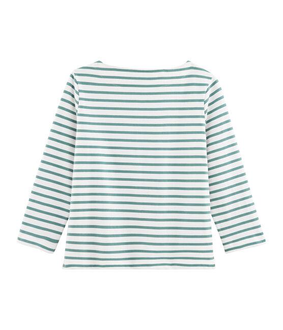 Streifenshirt Damen weiss Marshmallow / blau Brut