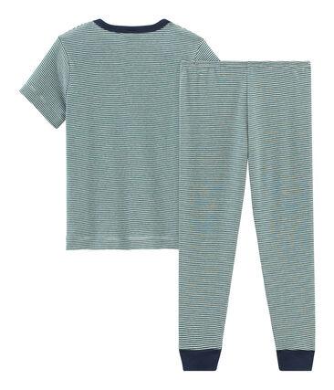 Kurzärmeliger Rippstrick-Pyjama für kleine Jungen