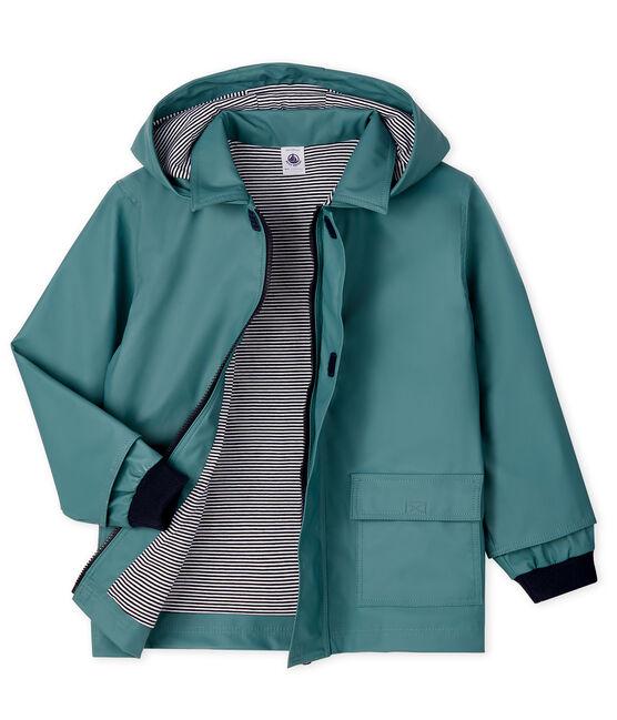 Kinder-Regenjacke für Mädchen und Jungen blau Brut