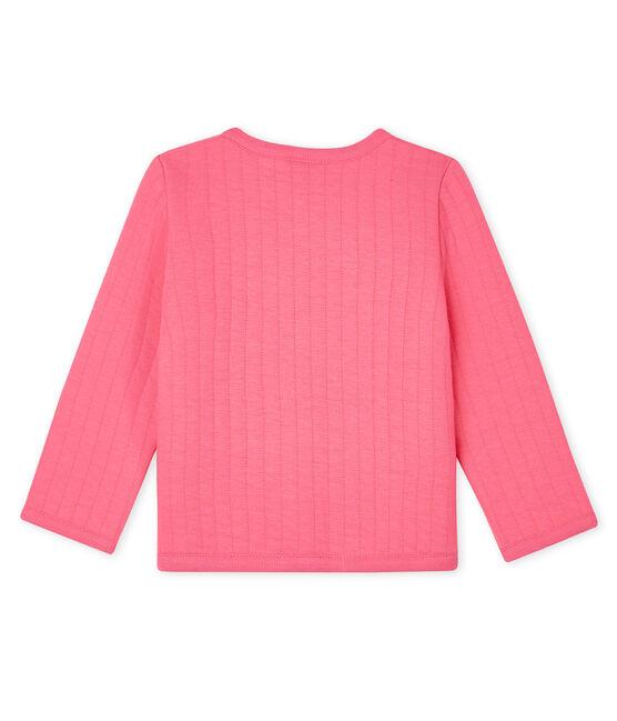 Baby-Cardigan aus gestepptem Doppeljersey für Mädchen rosa Cupcake