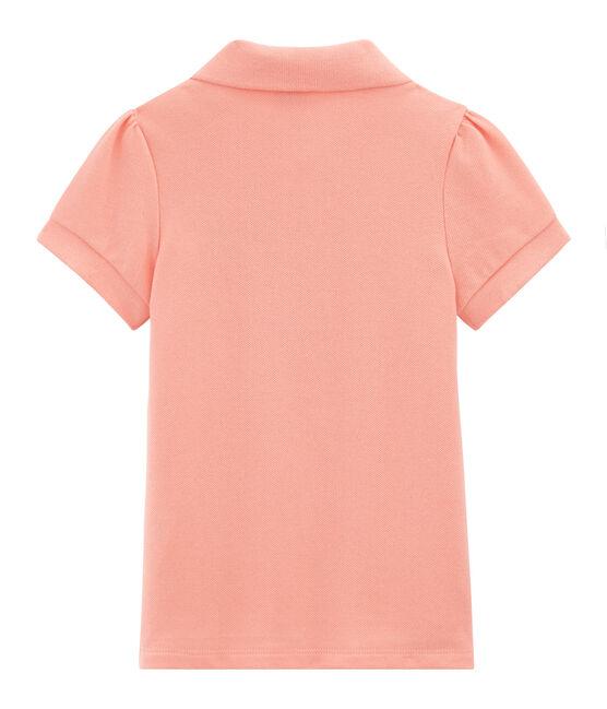 Kurzärmeliges Kinder-Polohemd Mädchen rosa Rosako