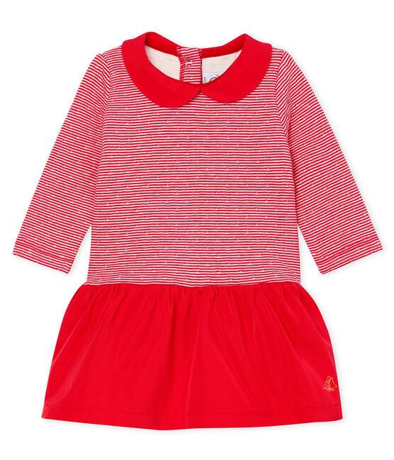 Baby Mädchen Kleid mit langen Ärmeln aus gedoppeltem Jersey rot Terkuit