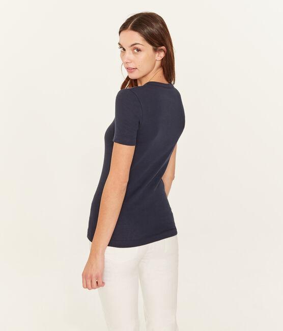 T-Shirt aus Sea-Island-Baumwolle für Damen blau Marine