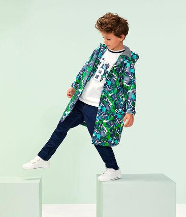 Kinder-Regenjacke für Jungen weiss Marshmallow / weiss Multico