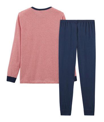 Rippstrick-Pyjama für Jungen