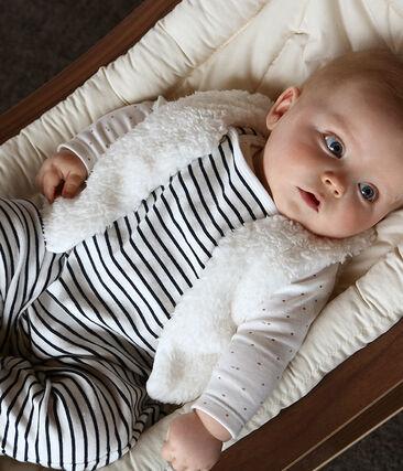 Baby-Weste aus Sherpa für Mädchen weiss Marshmallow