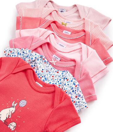 Überraschungsbeutel mit sieben kurzärmeligen Bodys für Baby Mädchen