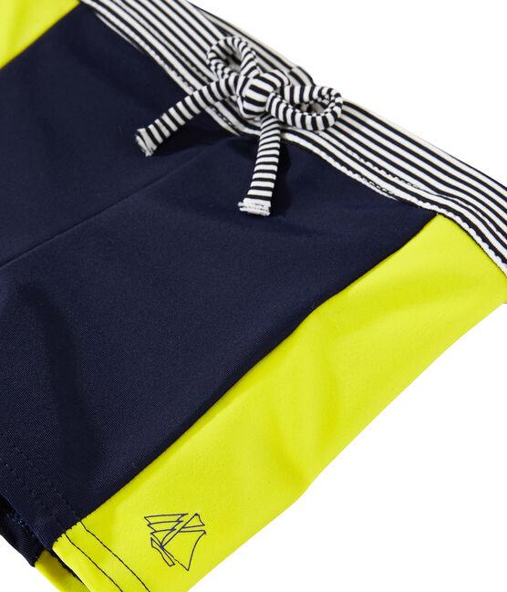 Umweltfreundliche Badeshorts Baby Jungen blau Smoking / gelb Jaune