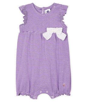 Baby-Spieler mit Milleraies-Streifen für Mädchen violett Real / weiss Marshmallow