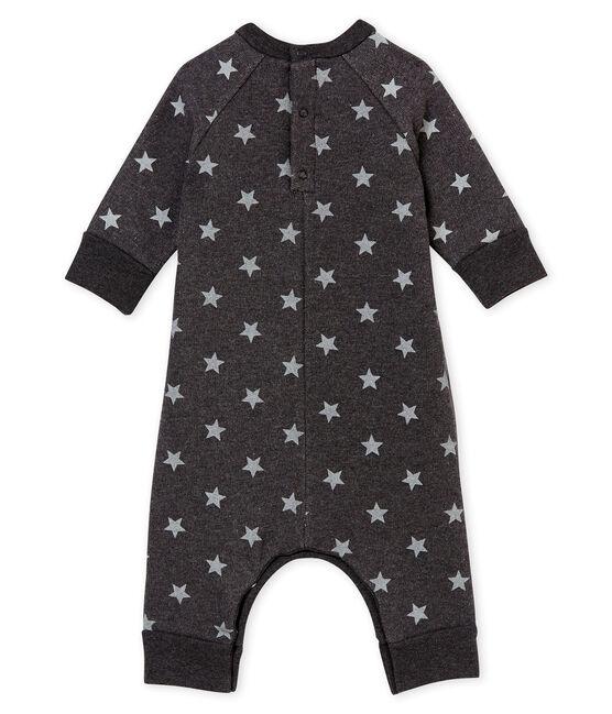 Langer Baby Jungen Overall mit Print schwarz City / grau Gris