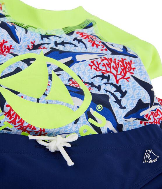 Umweltfreundliches Anti-UV-T-Shirt mit LSF 50+ Kinder Jungen weiss Marshmallow / weiss Multico
