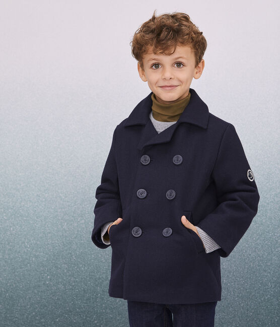 Caban-Jacke aus Wollstoff für Jungen blau Smoking