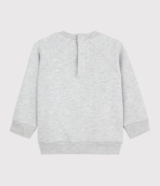 Langärmeliges Baby-Schweatshirt für Jungen grau Beluga