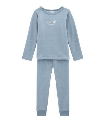 Jungen Schlafanzug blau Astro