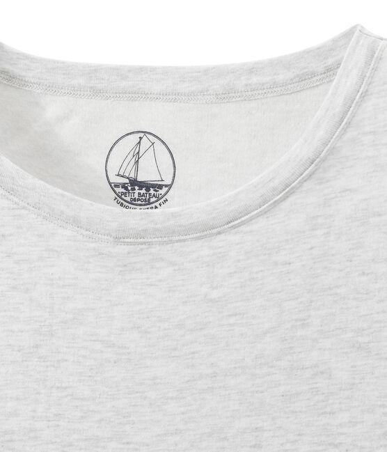 Damen-Top aus federleichtem, gedoppeltem Jersey grau Poussiere Chine