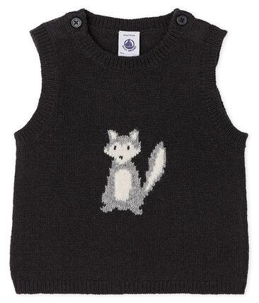 Ärmelloser Baby-Pullover Jungen grau Capecod