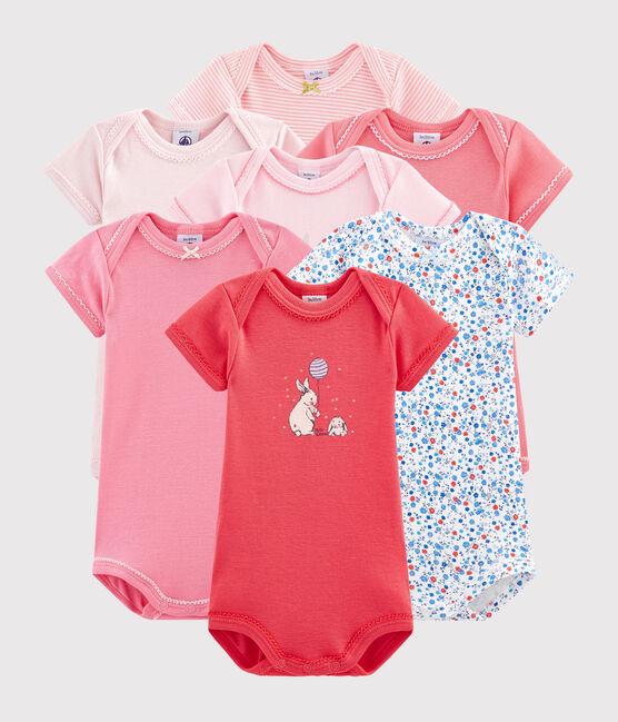 Überraschungsbeutel mit sieben kurzärmeligen Bodys für Baby Mädchen lot .