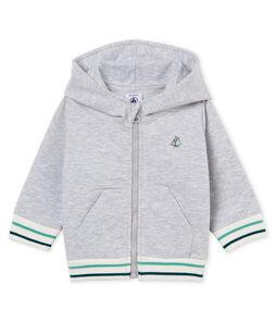 Baby-kapuzenSweatshirt aus molton mit reissverschluss jungen