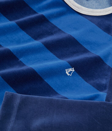 Samt-Pyjama für Jungen blau Medieval / blau Major
