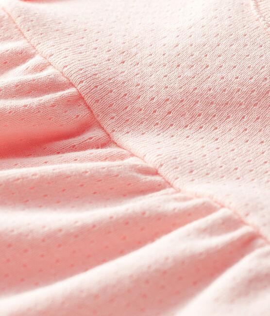 Kurzärmelige einfarbige Baby-Bluse für Mädchen rosa Minois