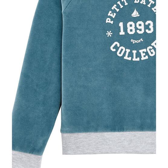 Mädchen Kind Sweatshirt blau Mozaik