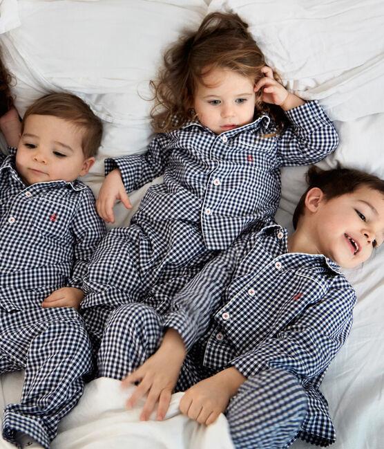 Twill-Pyjama für kleine Jungen blau Medieval / weiss Lait