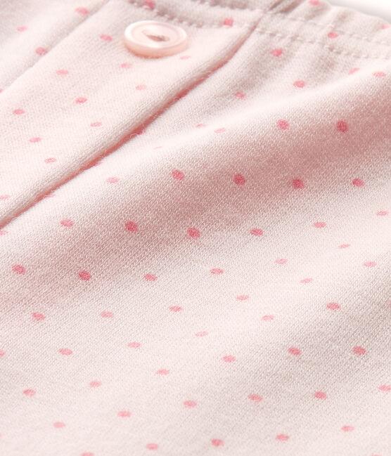 Mädchen-Leggings aus Wolle/Baumwolle rosa Vienne / rosa Gretel
