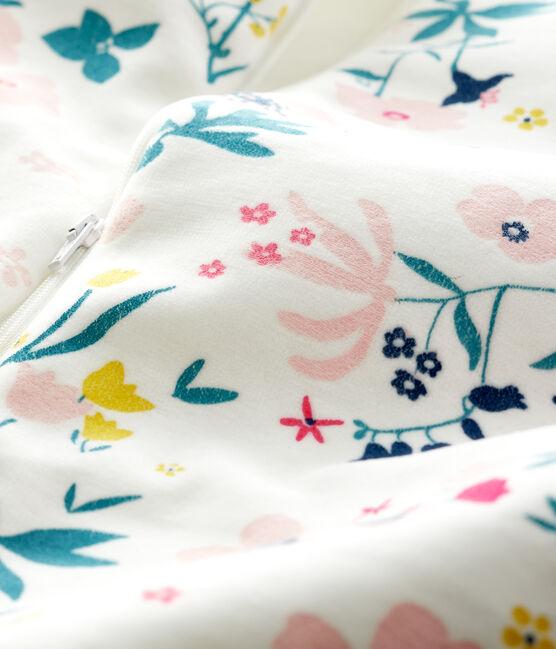 Babyschlafsack aus Samt für Mädchen weiss Marshmallow / weiss Multico