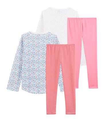 2er-Set Rippstrick-Pyjamas für kleine Mädchen lot .