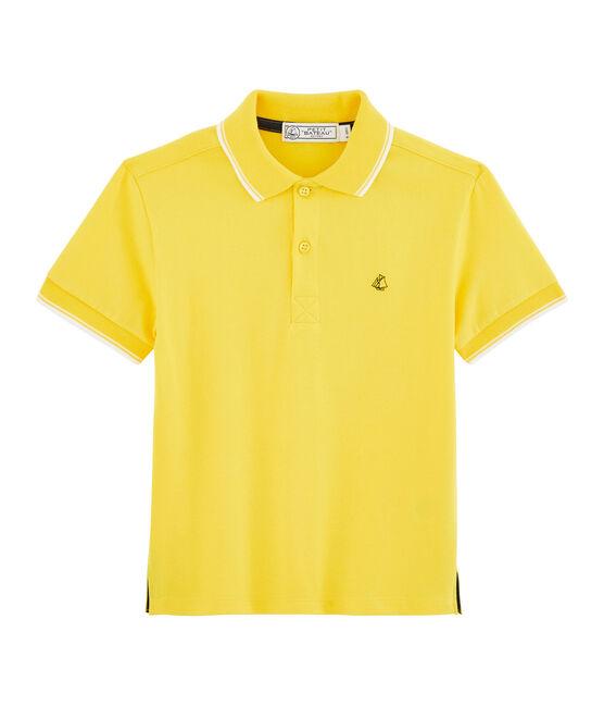 Kinder-Poloshirt für Jungen gelb Shine