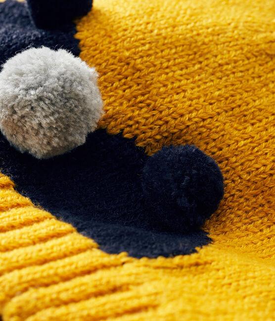Baby-Mütze für Jungen mit Fleecefutter gelb Boudor